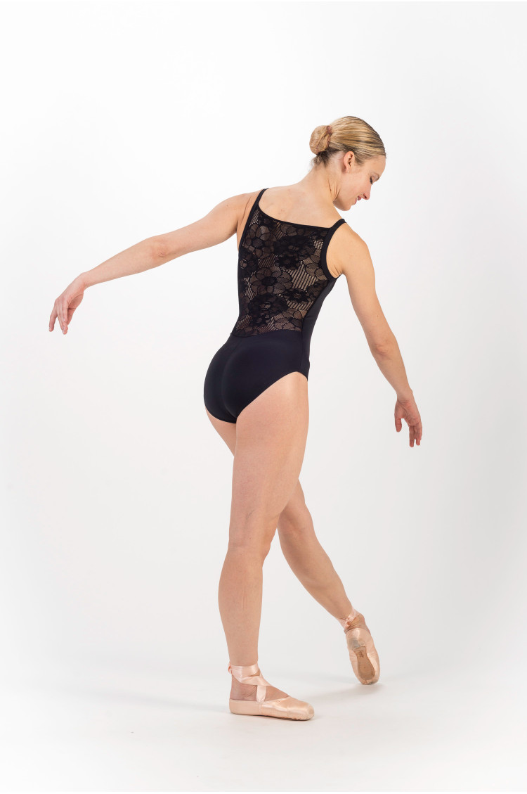 d57ff282d Repetto D0684 ballet black lace leotard - Mademoiselle Danse