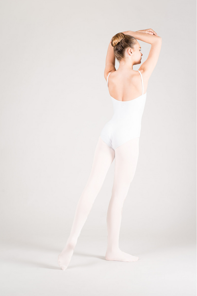 Collant de danse blanc enfant