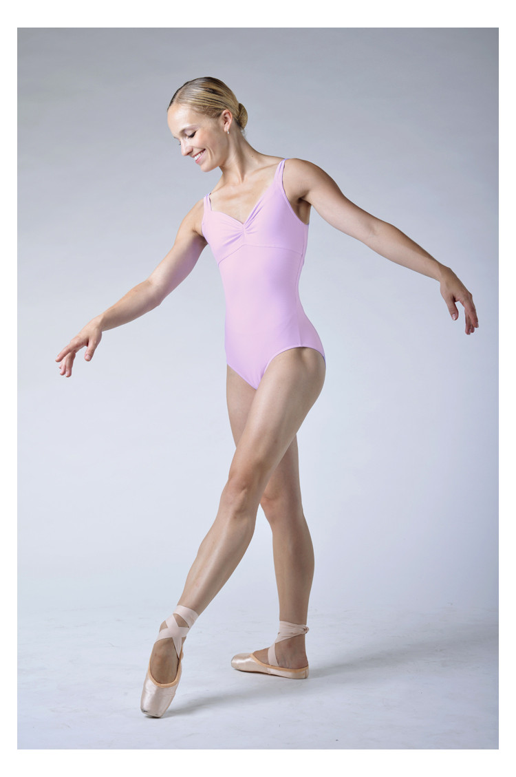Wear Moi Galate pink leotard