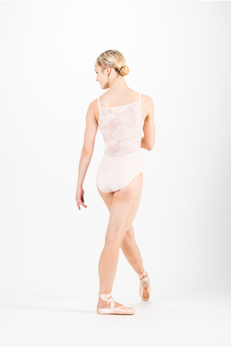 Repetto D0684 pink lace leotard