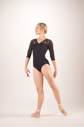 Intermezzo 31260 long sleeve black leotard