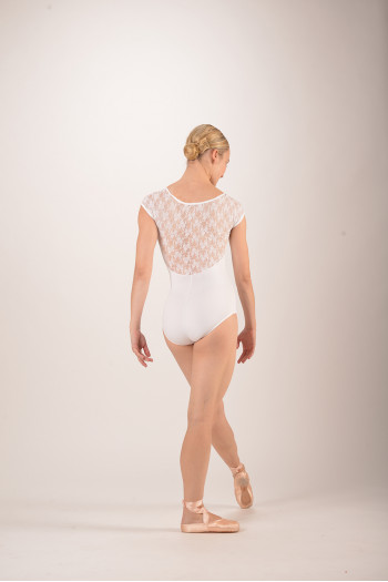 Intermezzo white Lace Leotard 31125