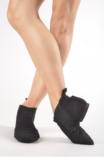 Dansez-vous Black elastic canvas jazz boots
