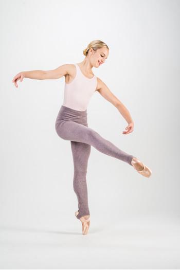 Pantalon Capezio violet chiné