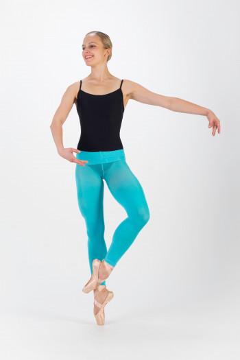 Collants sans pieds Sansha Bleu Turquoise
