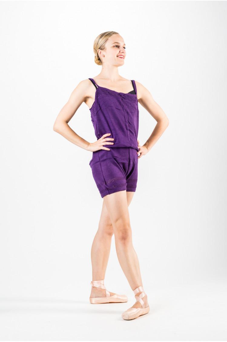 combinaison chauffement danse femme violette. Black Bedroom Furniture Sets. Home Design Ideas