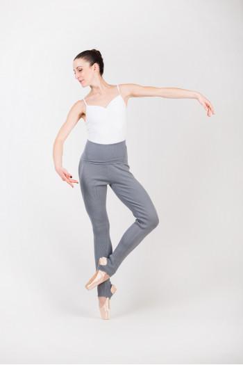 Pantalon Capezio gris chiné