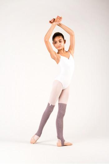 Capezio light grey legwarmers for child
