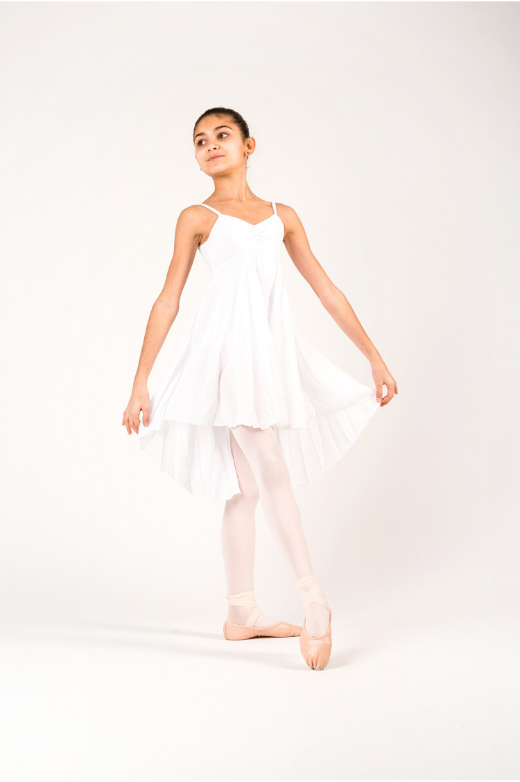 MDA white girl dress leotard