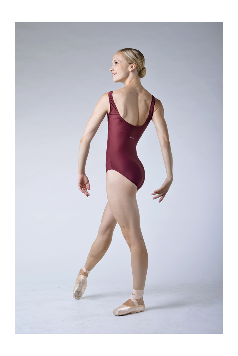 Wear Moi Galate maroon leotard
