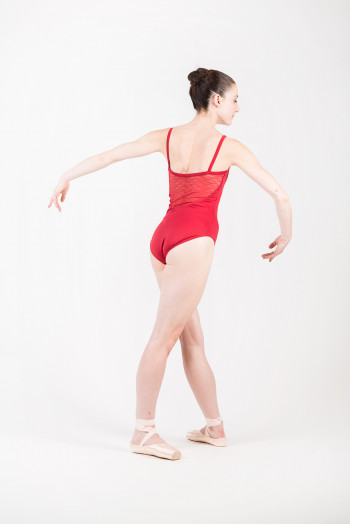 Mirella M2145 burgundy dance leotard