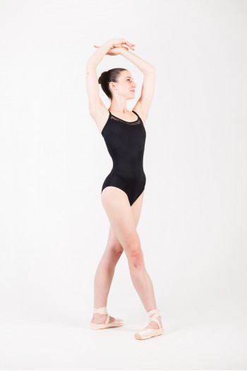 Mirella M2145 black dance leotard