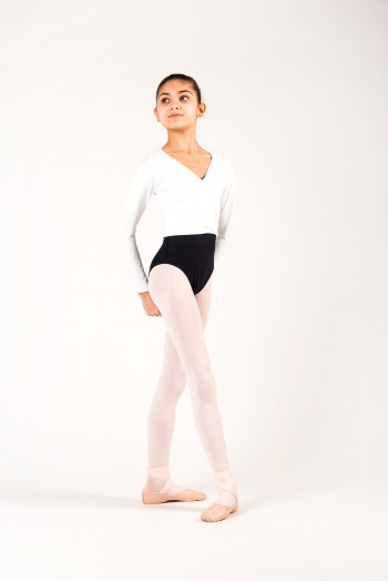 Temps Danse white wrap over top