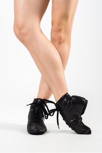 Adult black glitter boots