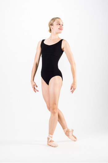 Temps Danse Maraca black large straps leotard