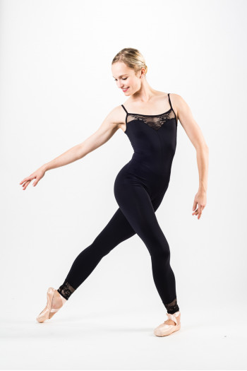 Ballet Rosa Flora black unitard