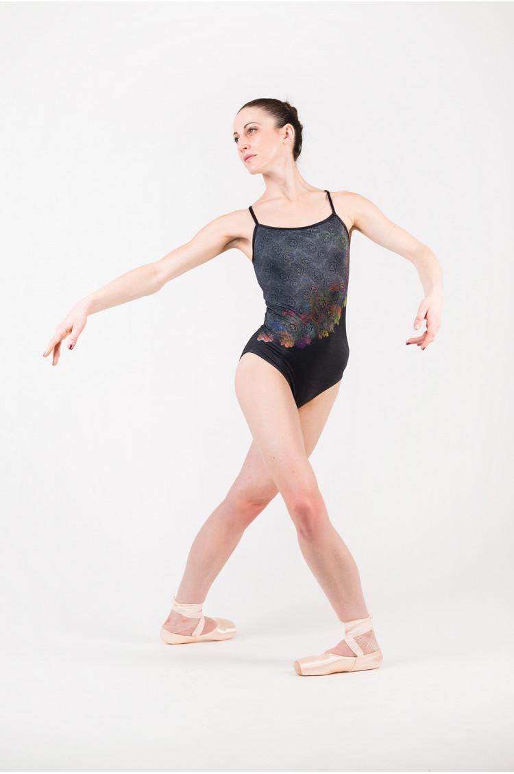 Ballet Rosa Marlise crystal black leotard