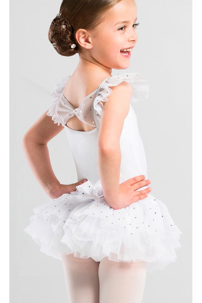 Tutu Wear Moi Capucine paillette blanc
