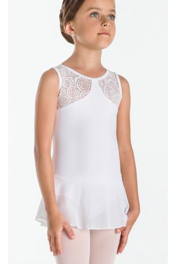 Tunique Wear Moi Indira blanc enfant