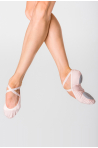 Wear Moi split-sole stretch canvas slippers Vesta light pink