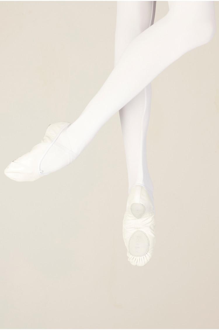 Demi pointes Wear Moi WM406 cuir white