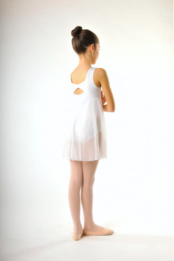 Capezio 3968C white empire dress