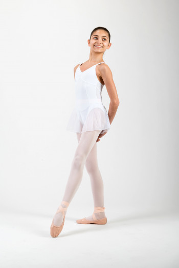 Degas white dress leotard 2501LNT