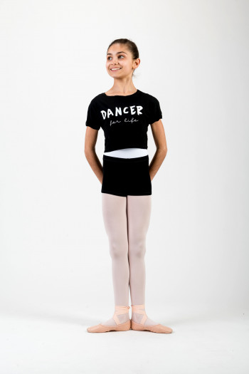 Crop Top Temps Danse Agile Jr noir