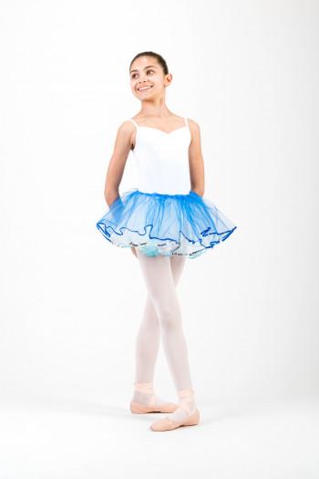 Bas de tutu enfant Sansha Celine bleu royal et turquoise