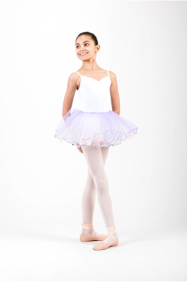 Bas de tutu enfant Sansha Celine lilas et rose