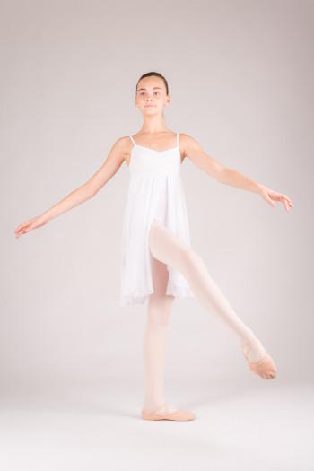 MDA white girl dress leotard open