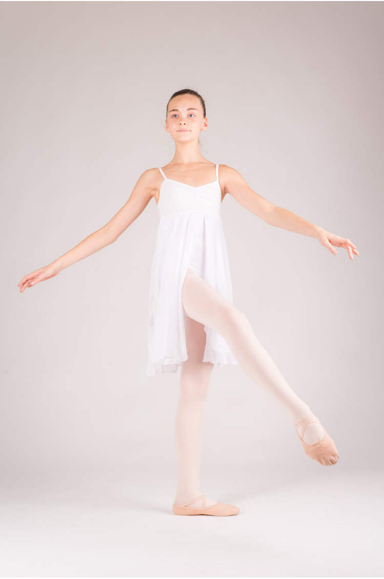 MDA white girl dress leotard open