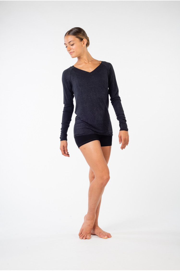 Temps danse Epik anthracite long sleeves t-shirt