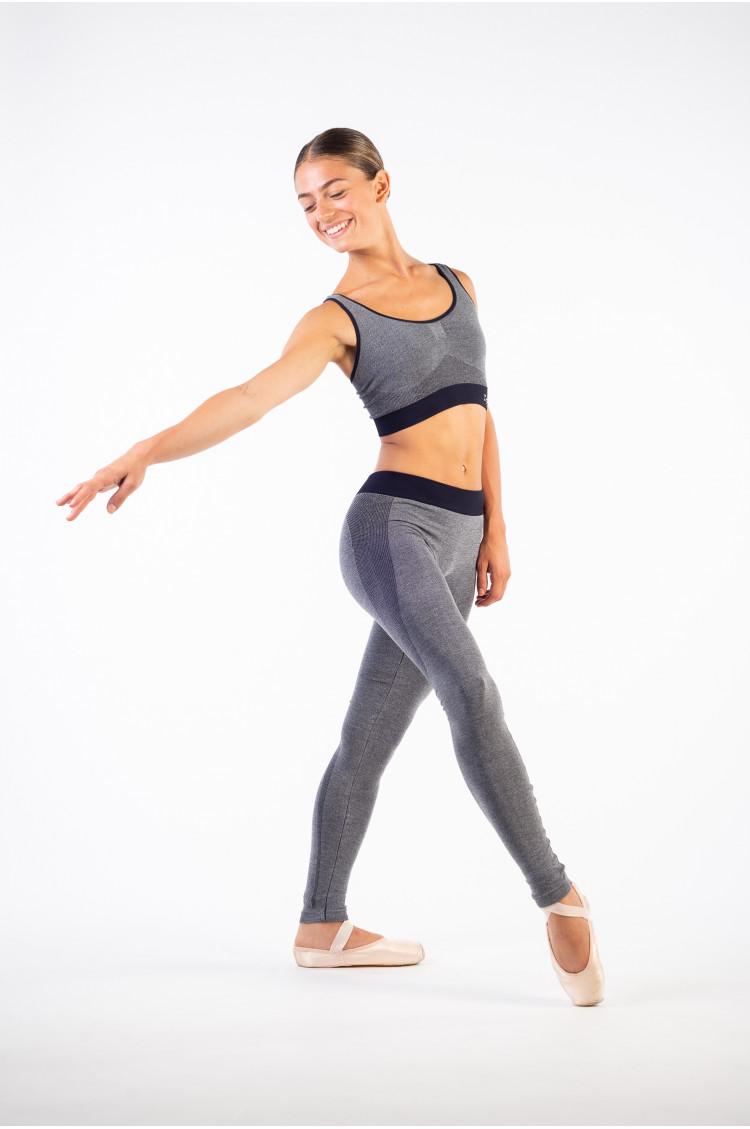 Legging sans couture Repetto gris chiné