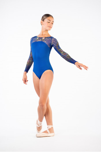 Leaotard Ballet Rosa Sae indaco