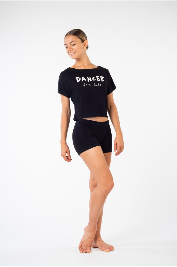 Crop Top Temps Danse Agile For life noir
