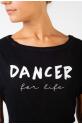 Crop Top Temps Danse Agile For life noir