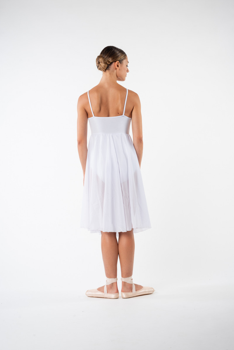 MDA white women dress leotard