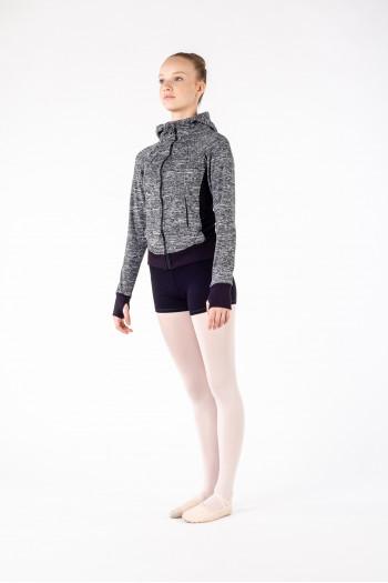 Veste Bloch à capuche FT5046 enfant gris chiné