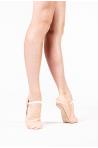 Demi-pointes Bloch cuir semelle entière cordon élastiqué Giselle
