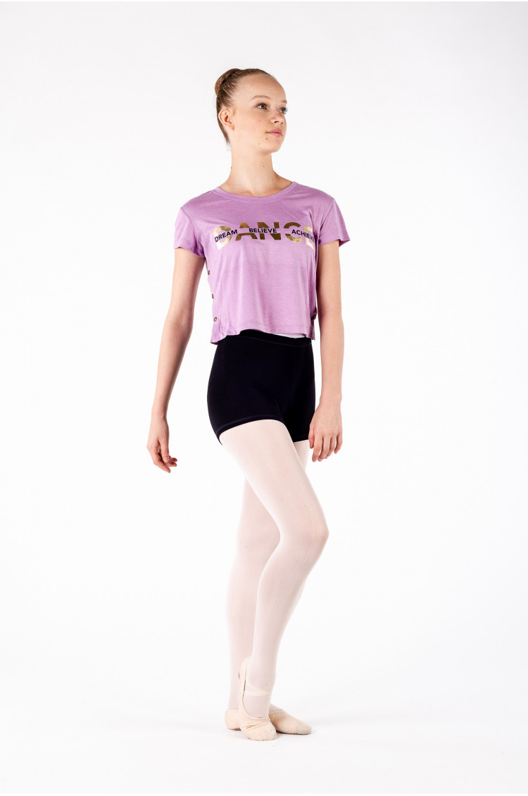 Crop top Bloch enfant violet