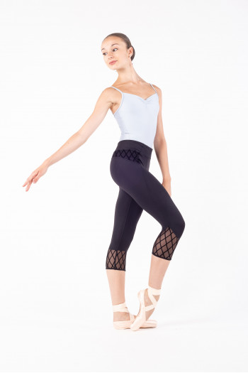 Legging Bloch mesh diamant noir
