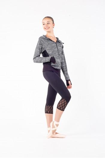 Veste Bloch à capuche FT5046 femme gris chiné