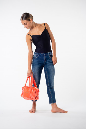 Bag Repetto small duffle Corail velvet