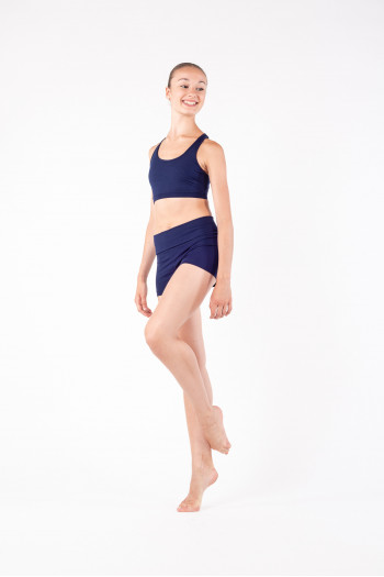 Short flap Capezio navy women