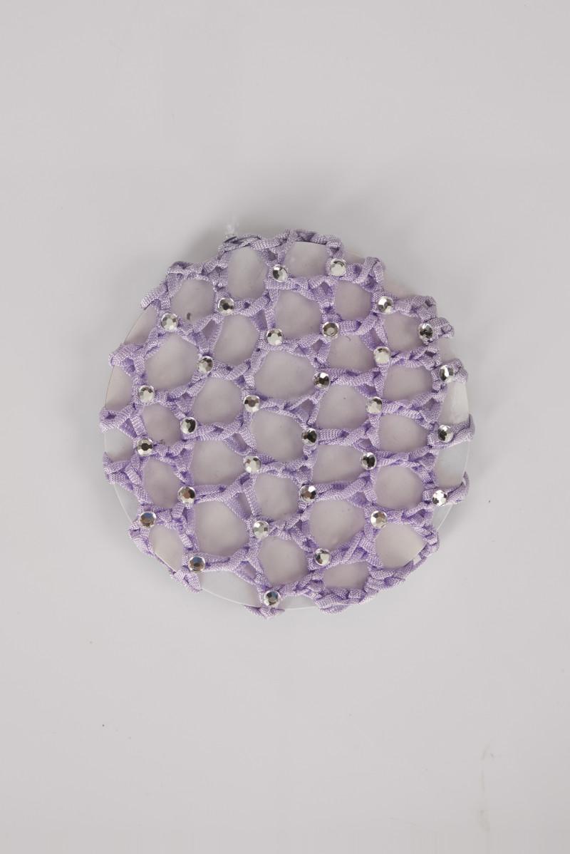 Filet chignon en crochet et strass Wear Moi lilac