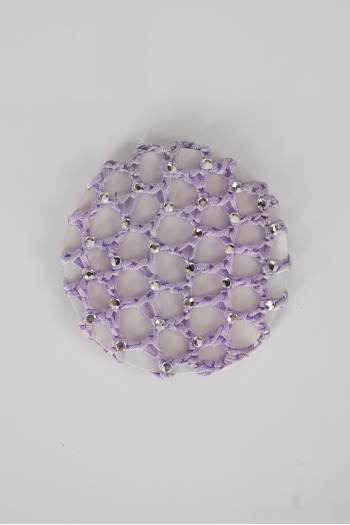 Crochet hair net with glitter Wear Moi lilac