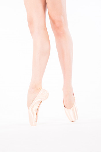 Pure Leather Pink Ballet Leather Dance Shoes Full Sole Leather with Elastics