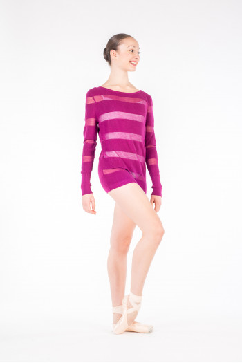 Pull long Bloch femme Harlyn Edition Limitée violet africain