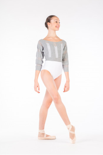 Jumper crop top mesh Bloch Grey Marle Limited Edition